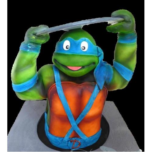 3d turtle ninja cake 7
