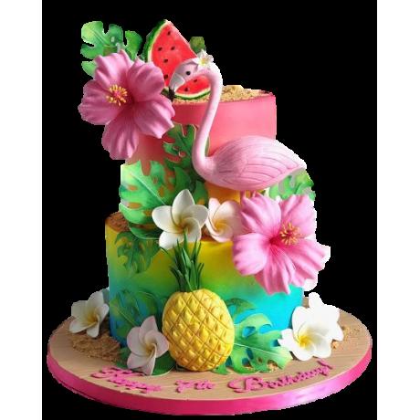 hawaiian theme cake 6