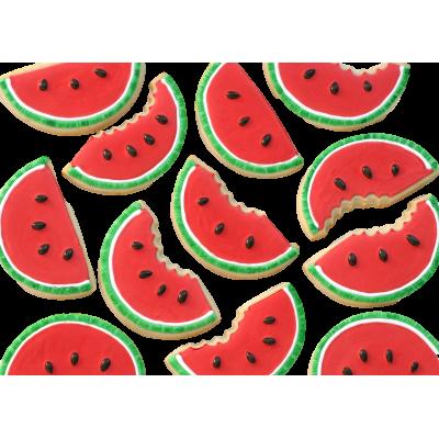 Watermelon shaped cookies