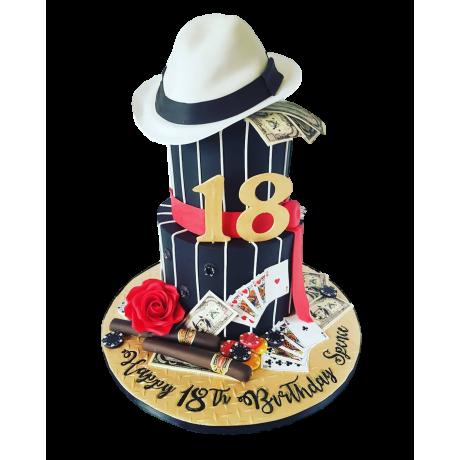gangster theme cake 6
