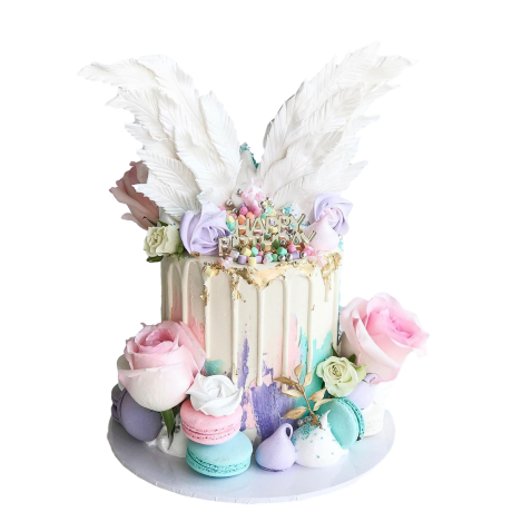 angel wings cake 6