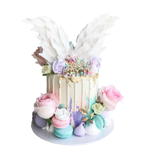 angel wings cake 7