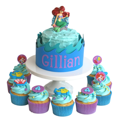 ariel cake and cupcakes 6