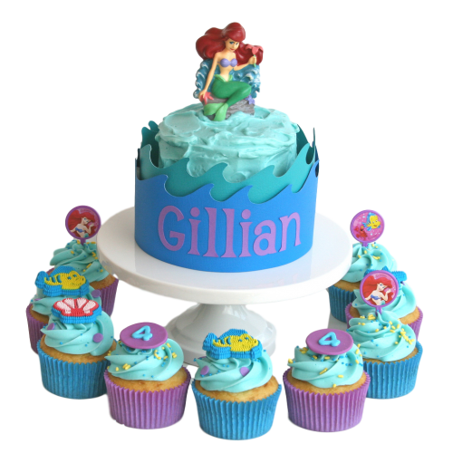 ariel cake and cupcakes 7