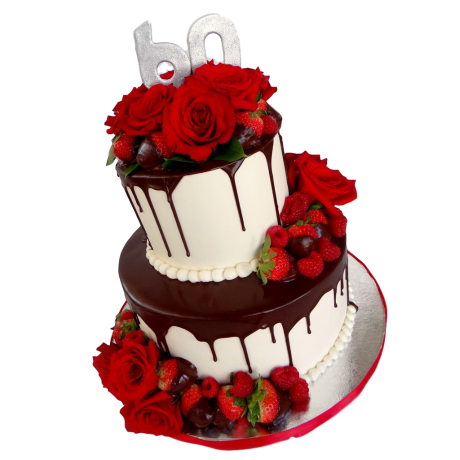 awesome cake with red roses 6