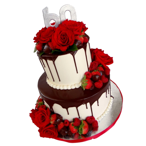awesome cake with red roses 7