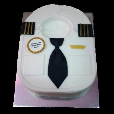 Baby bib pilot cake