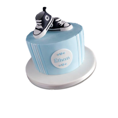 Baby shoes cake 2