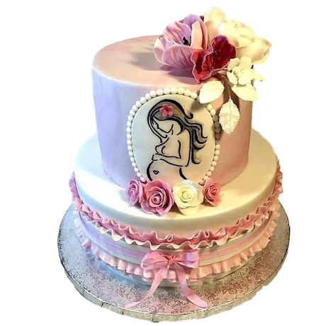 pregnant tummy cake 6