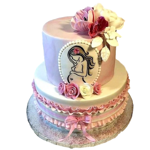 Pregnant tummy cake