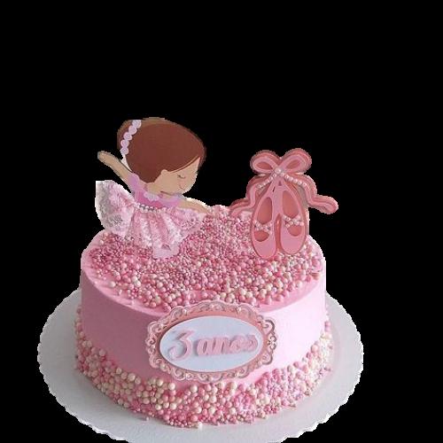 baby shower cake ballerina theme 7
