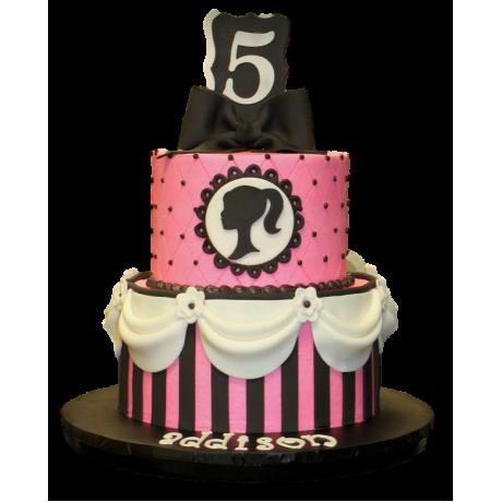 barbie theme cake 6