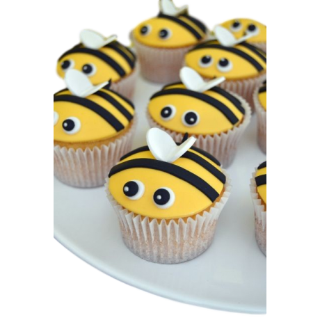 bees cupcakes 2 6