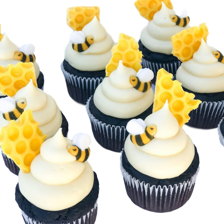 bees cupcakes 3 6
