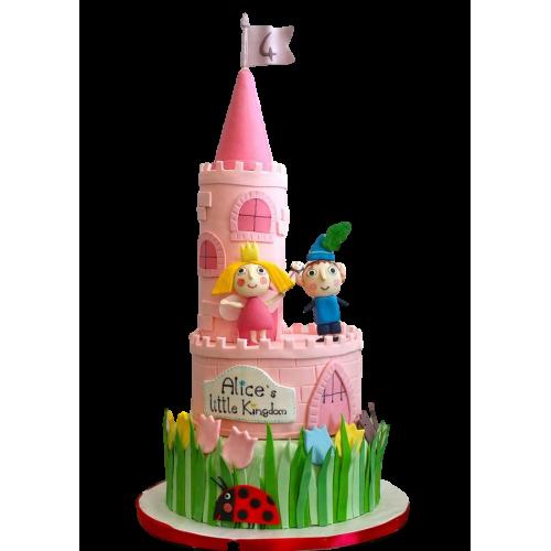 elf ben and princess holly cake 13