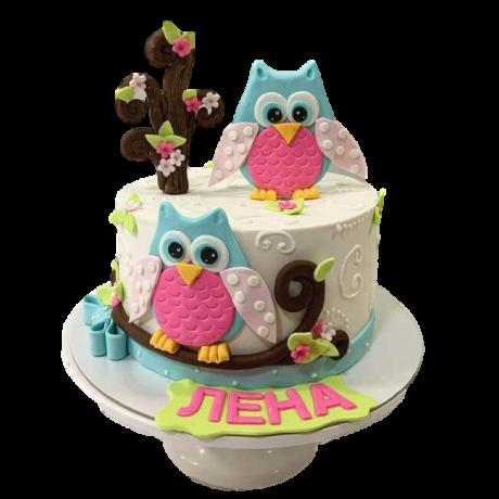 owl cake 7 6