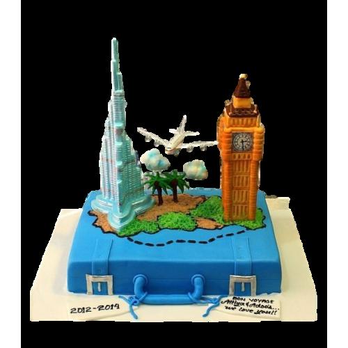 Big Ben and Burj Khalifa cake