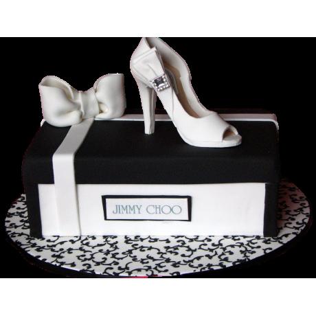 black & white stylish shoe cake 12