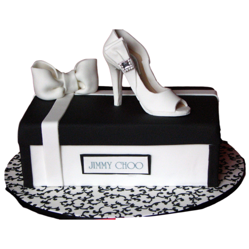 black & white stylish shoe cake 13