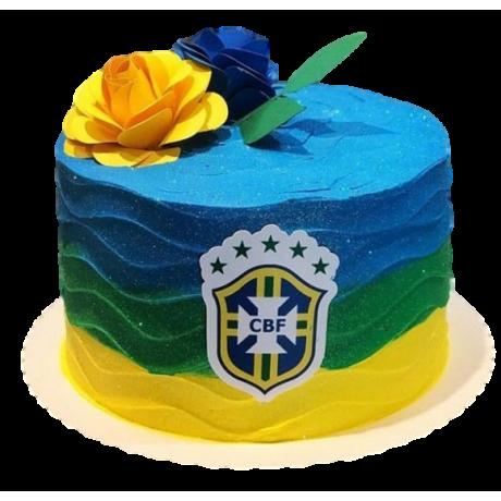 brazil football theme cake 12