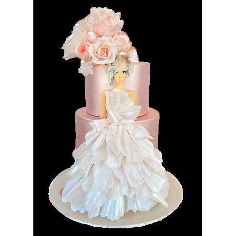 bridal dress cake 11 6