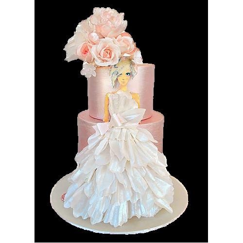 bridal dress cake 11 7