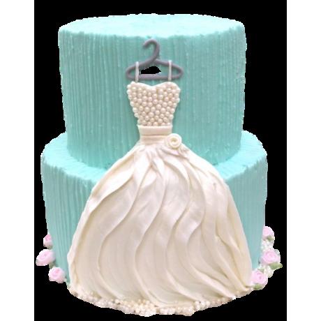 bridal dress cake 6