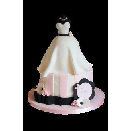 bridal dress cake 7 6