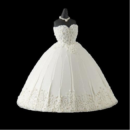bridal dress cake 6 7