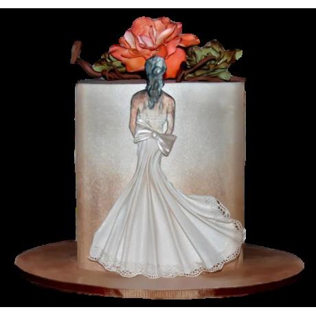 bridal dress cake 10 6