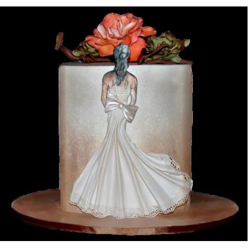 bridal dress cake 10 7