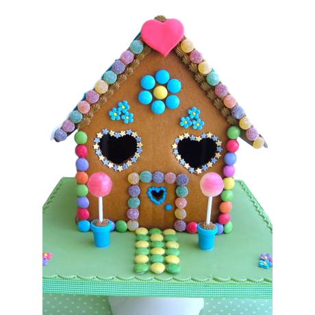 candy house cake 6
