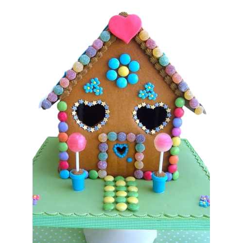 candy house cake 7