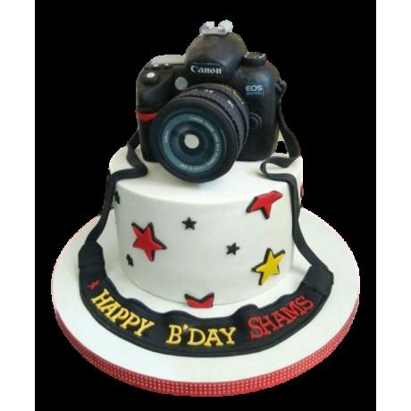 canon camera cake 4 6