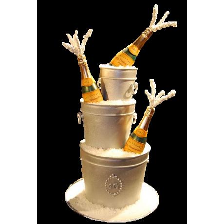 champagne bottles cake 6