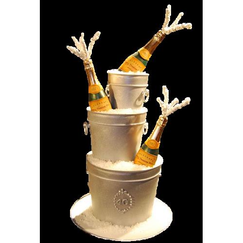 champagne bottles cake 7