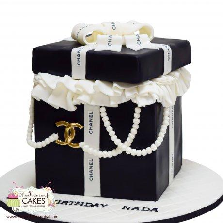 Chanel box cake