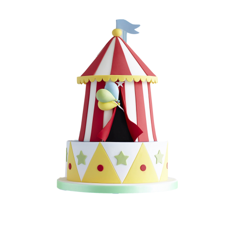 circus cake 4 6