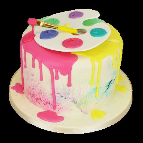 artist painting cake 5 6