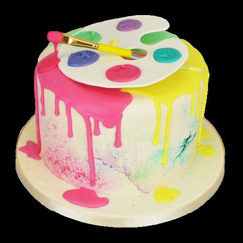 artist painting cake 5 7