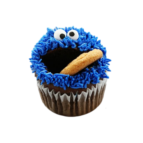 cookie monster cupcakes 6