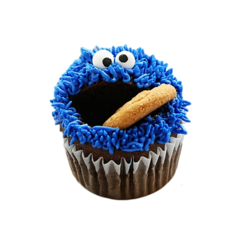 cookie monster cupcakes 7