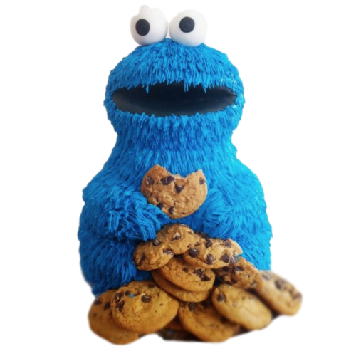 cookie monster cake 7