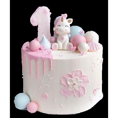 1st birthday unicorn cake