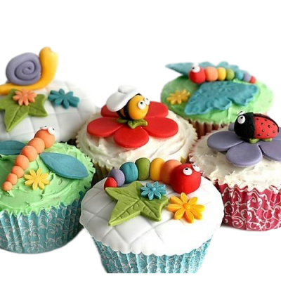 Cute insects cupcakes