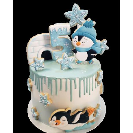 funny penguins cake 2 12