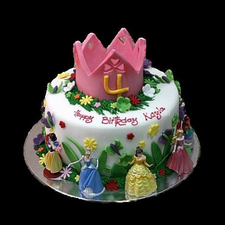 disney princesses cake 8 6