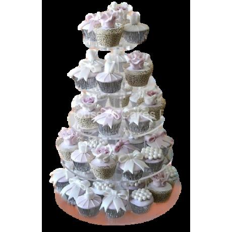 elegant cupcake tower 6