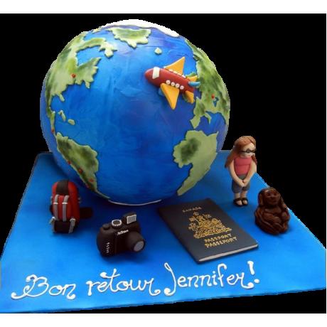 farewell globe cake 6