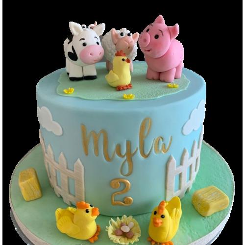 farm animals cake 6 7